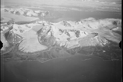 Midtre Lovénbreen and Ny Ålesund in 1936